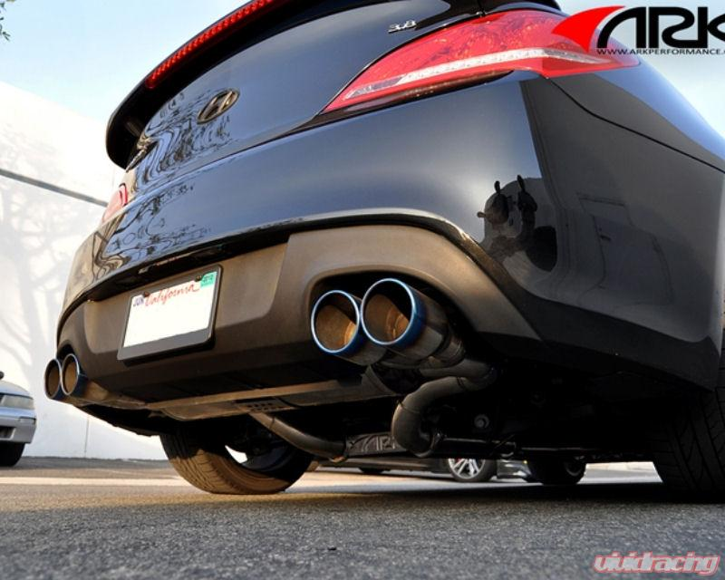 ARK Stainless DT S Catback Exhaust Tecno Quad Tip Hyundai Genesis Coupe  10 12