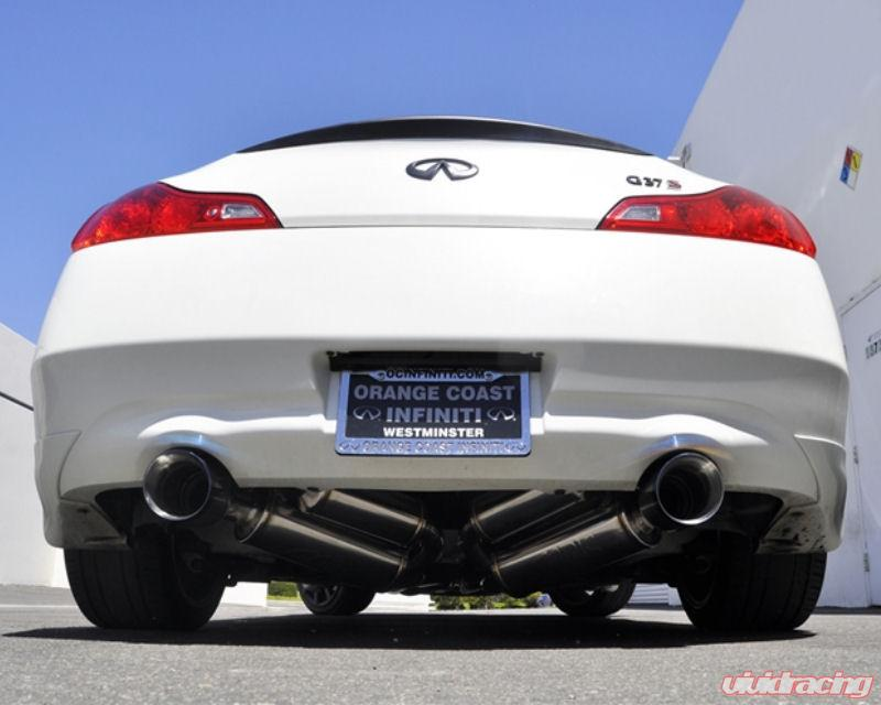 ARK Stainless GRIPTrue Dual Catback Exhaust System with Burnt Tip Infiniti  G37 Coupe 3 7L RWD 08-13