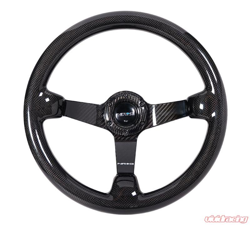 NEW NRG Carbon Fiber Steering Wheel Oval Shape 350mm w// Carbon Spokes ST-013CFCF