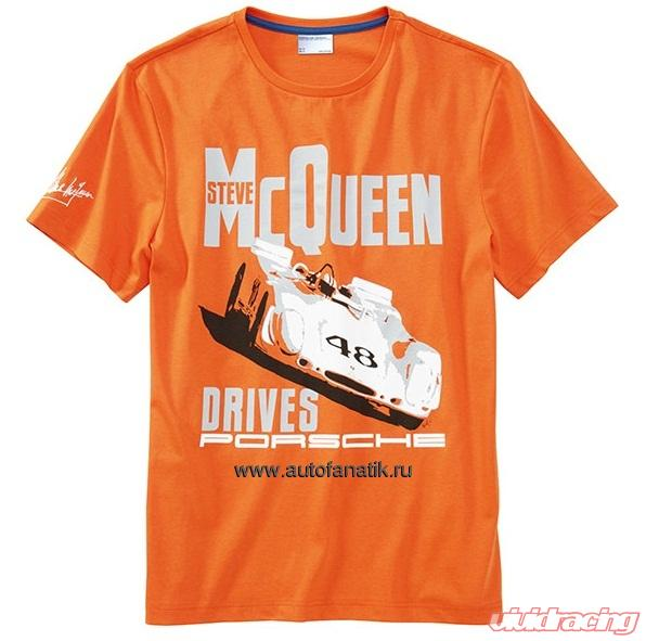 f1ad0e4f2712f1 Porsche Driver Selection Orange Steve McQueen T-Shirt MD - WAP81500M0E