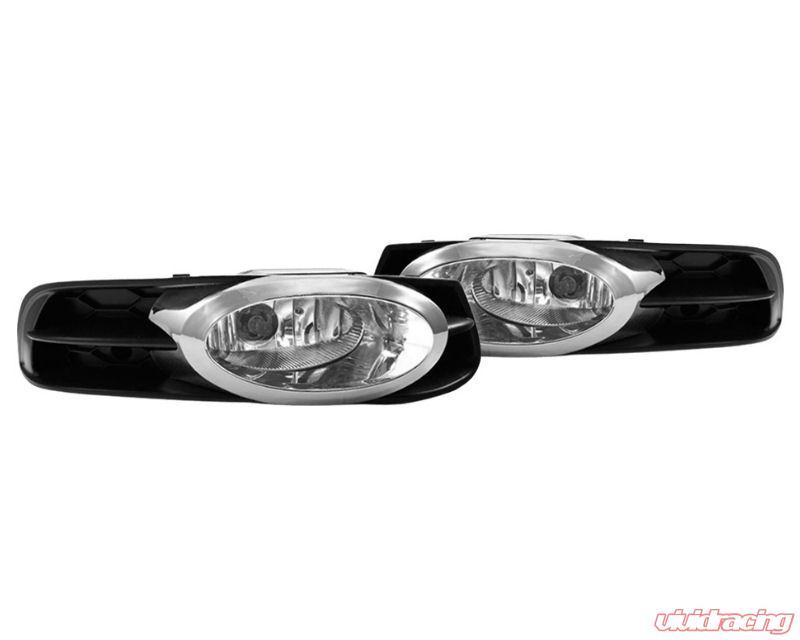winjet glossy black fog lights wiring kit included honda civic 2 door 12-13  -