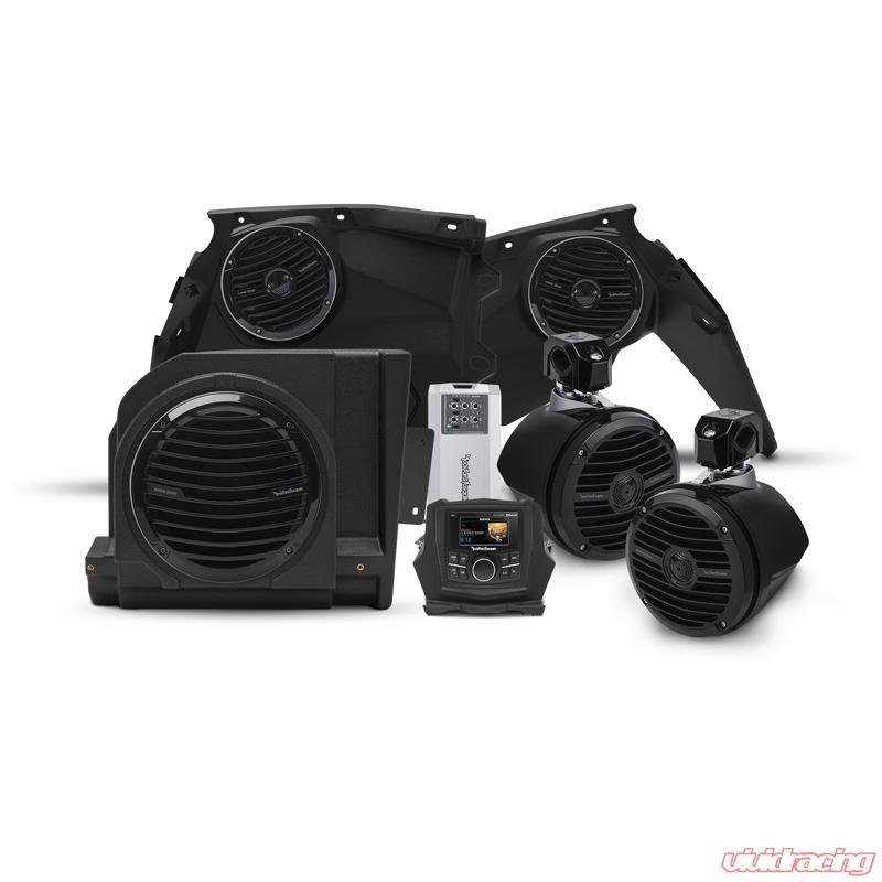 Rockford Fosgate Stage 4 400 Watt Stereo | Front Speaker | Subwoofer | Rear  Speaker Kit Can-Am Maverick X3 Models