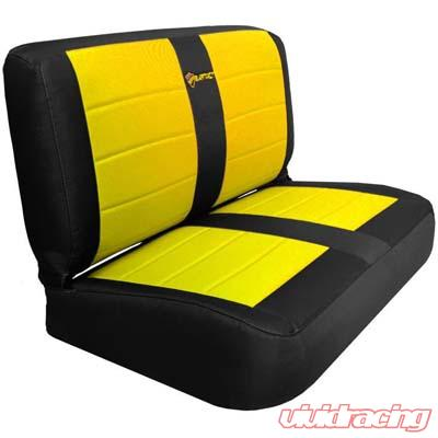 Fine Jeep Yj Seat Covers Rear Bench 87 95 Wrangler Yj Mil Spec Black Yellow Bartact Lamtechconsult Wood Chair Design Ideas Lamtechconsultcom