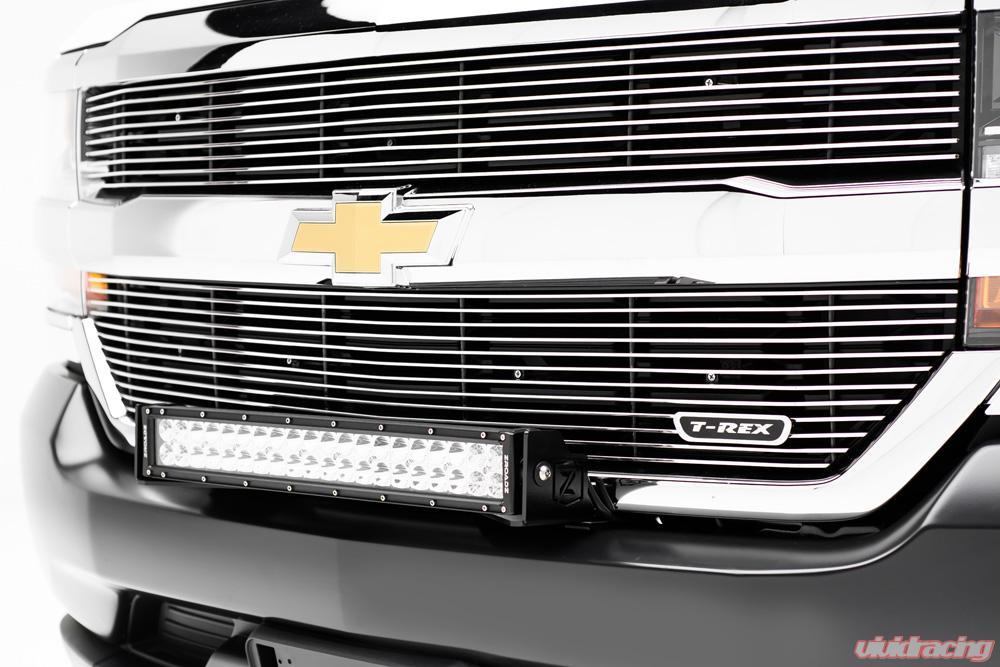 2016 2018 Chevrolet Silverado 1500 Front Bumper Top Led Bracket To Mount 1 30 Inch Led Light Bar Pn Z322082