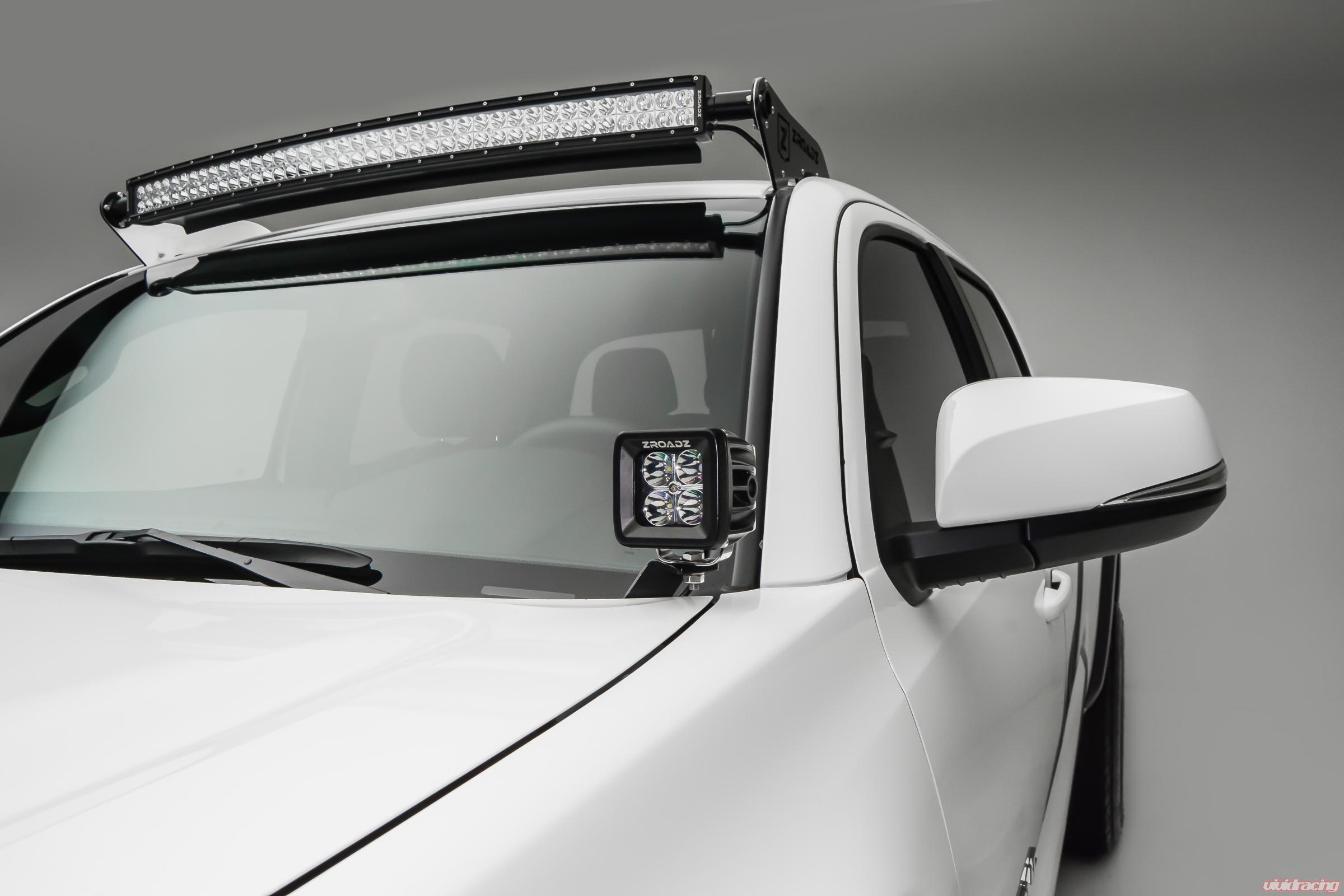 Front Roof LED Light Bar Mount Kit 2005-2017 Tacoma W/40 Inch Curved