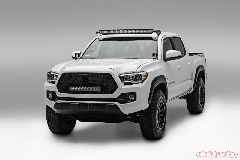 Z339401 front roof led light bar mounts 2005 2017 tacoma for one front roof led light bar mounts 2005 2017 tacoma for one 40 inch zroadz straight aloadofball Choice Image