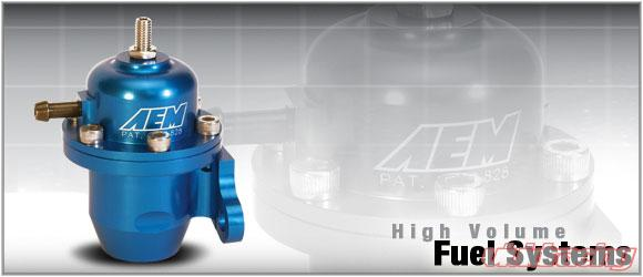 AEM 25-300BK Black High Volume Adjustable Fuel Pressure Regulator