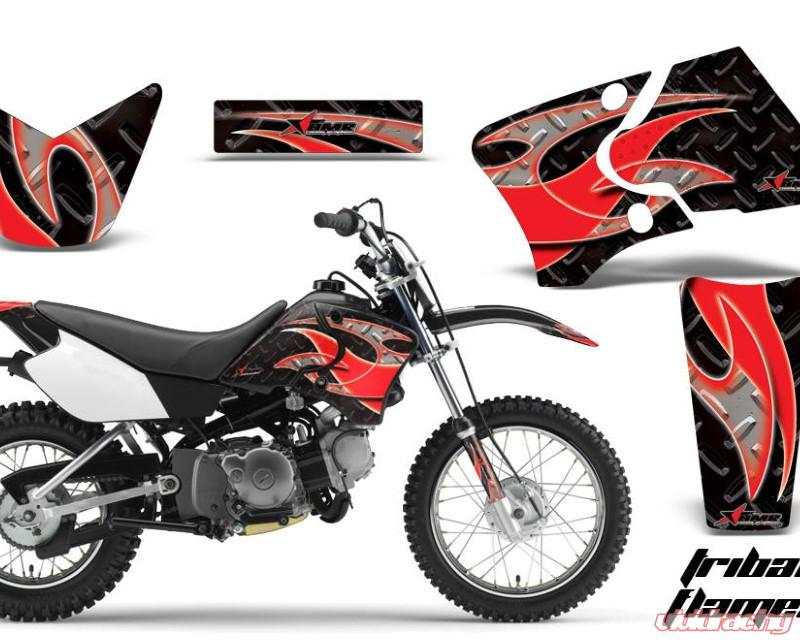 AMR Racing Dirt Bike Graphics Kit Decal Wrap For Yamaha TTR90 TTR90E  2000-2007TRIBAL RED BLACK