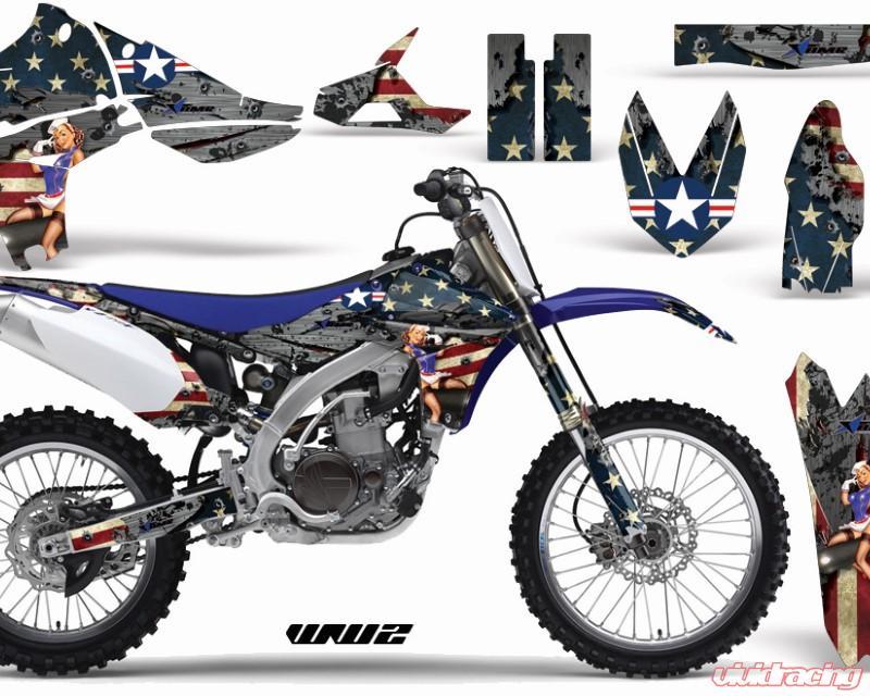 WW2 AMR Racing ATV Graphics kit Sticker Decal Compatible with Yamaha YFZ 450 R//SE 2014-2016