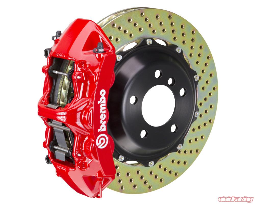 Brembo Brake Kit >> Brembo Gt 380x32 2 Piece 6 Piston Red Drilled Front Big Brake Kit