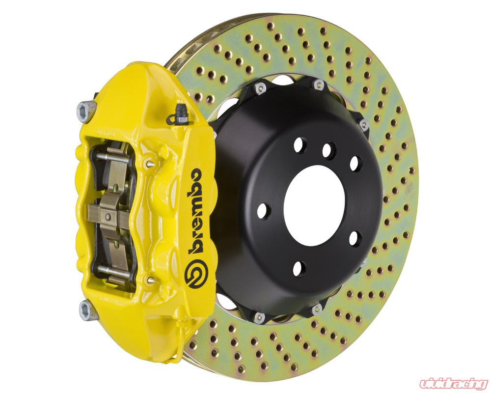 Front Drilled And Slotted Brake Rotors For 2009 2010 2011 Audi A4 A5 Quattro B8