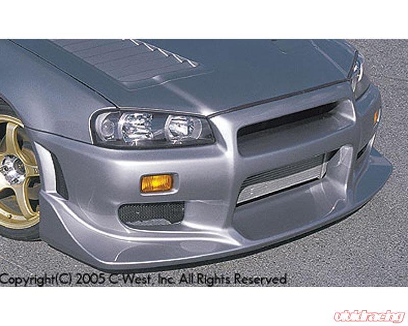 C West N1 Front Bumper Iii Nissan Skyline Gt R R34 99 02 Image