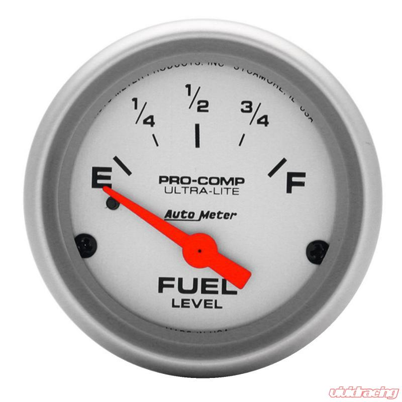 Autometer Gauge Fuel Level 2 1 16in 0oe To 30of Elec Ultra Lite