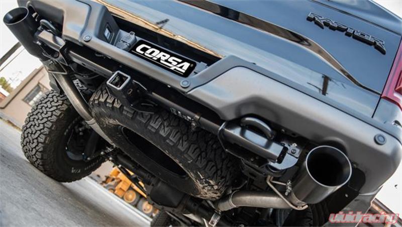 For Corsa 2017 Ford F-150 Raptor 3in Inlet 5in Outlet Satin Polished Tip Kit