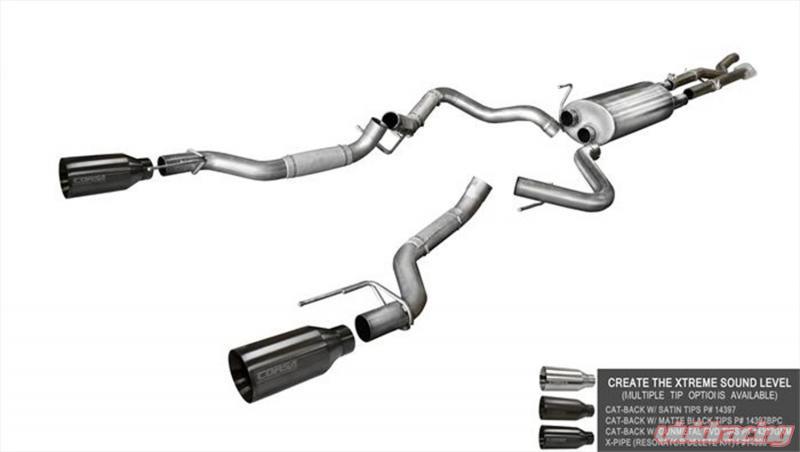 Corsa Performance X Pipe Resonator Delete Ford F   L