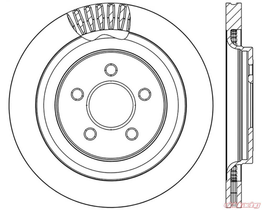 Right StopTech 127.61109R Sport Drilled and Slotted Rotor
