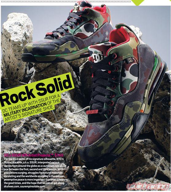 DC Shoes Artist Project X SSUR Camo Shoe