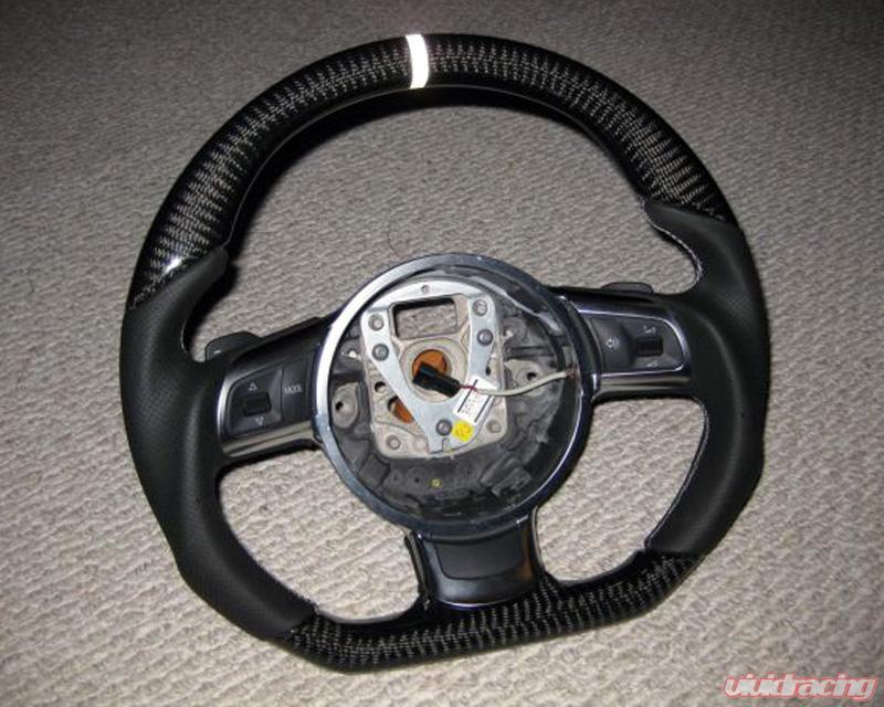 DCT Motorsports Carbon Trim Steering Wheel Audi R8 06-12 Image