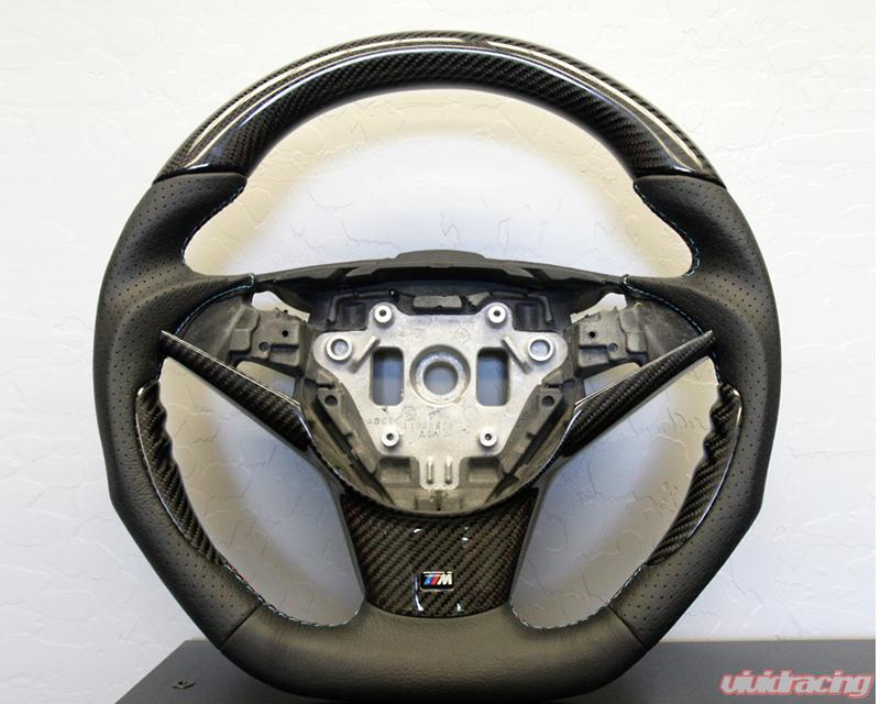 Dct Motorsports Carbon Trim Steering Wheel Bmw M5 E60 05 10 Image