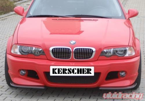 Kerscher Dtm Splitter For M Line 2 Bmw 3 Series E46 99 05