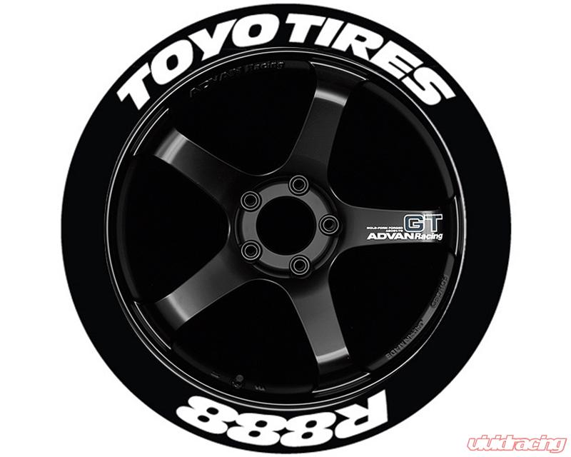 Toyo Proxes R888 >> Tire Stickers Toyo Tires R888 Permanent Raised Rubber Lettering