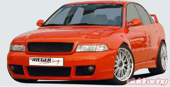 Rieger rs4 look front bumper w o fog brackets audi a4 b5 95 01 for Mercedes benz b5 service cost
