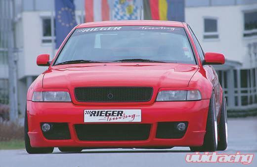 Rieger Rs4 Look Front Bumper W Fog Brackets Audi A4 B5 95 01
