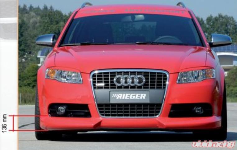 Rieger Front Lip Spoiler Audi A4 B7 Type 8e S Line 05 08