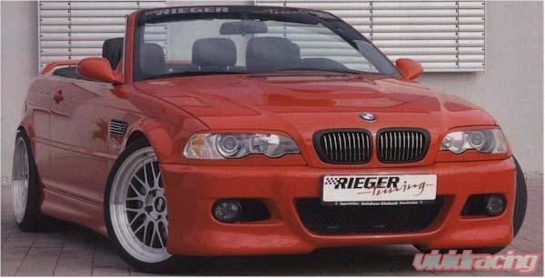 Rieger M3 Look Front Bumper W Mesh Bmw E46 Cabrio Coupe 00 03