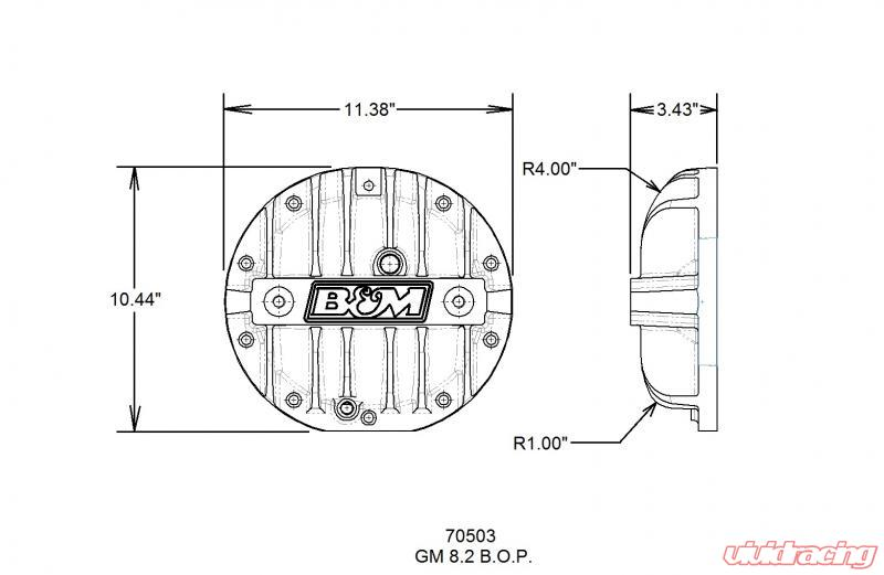 b&m cast aluminum differential cover for gm 8 2