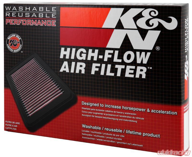 K/&N Air Filter 33-2391; Oiled Cotton Gauze 1.625