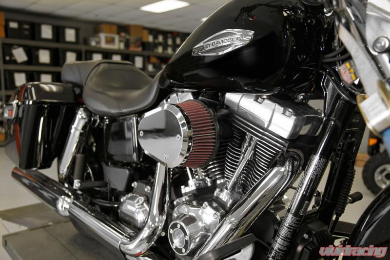 K/&N Street Metal Intake System Flare Black LG Capacity for Harley Davidson