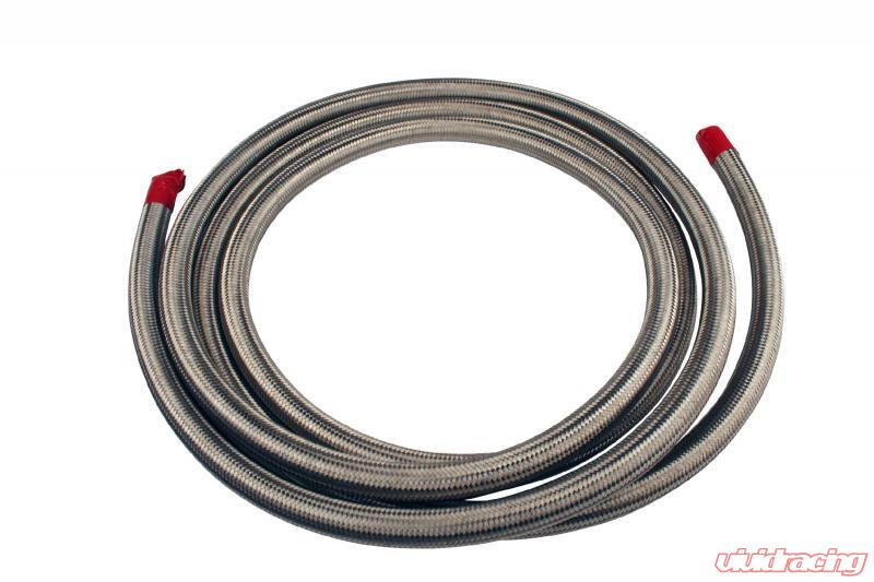 15709 15709 aeromotive fuel system hose, fuel, stainless steel braided