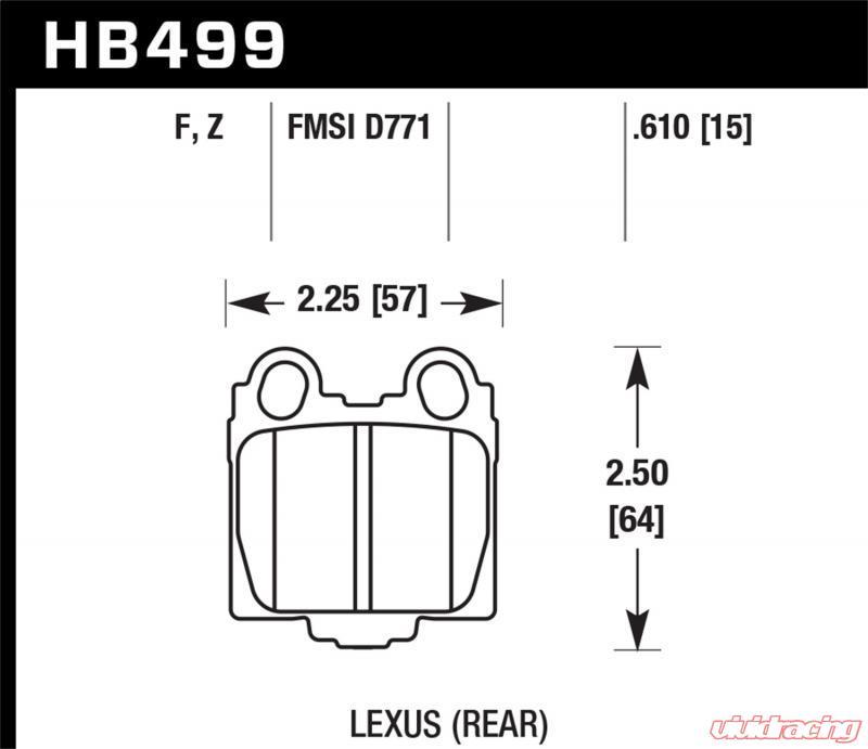 HB499F.610 Hawk HPS Disc Brake Pads
