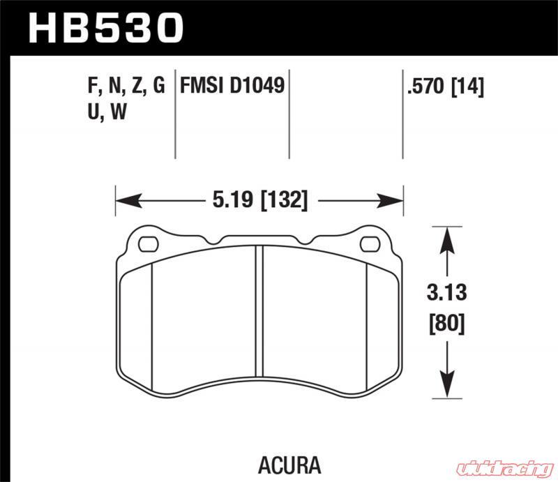 Hawk HP Plus Front Brake Pads Acura TL MT - Acura tl brake pads