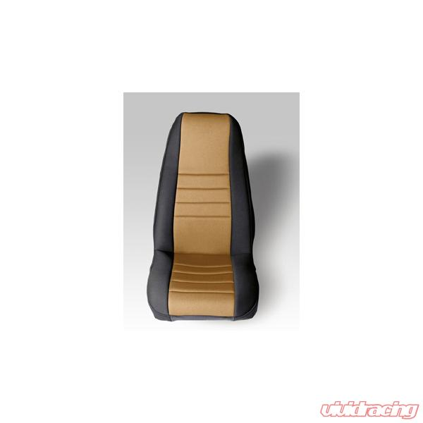 Remarkable Neoprene Seat Cover Rugged Ridge Fronts Pair Tan 76 90 Wrangler Jeep Unemploymentrelief Wooden Chair Designs For Living Room Unemploymentrelieforg