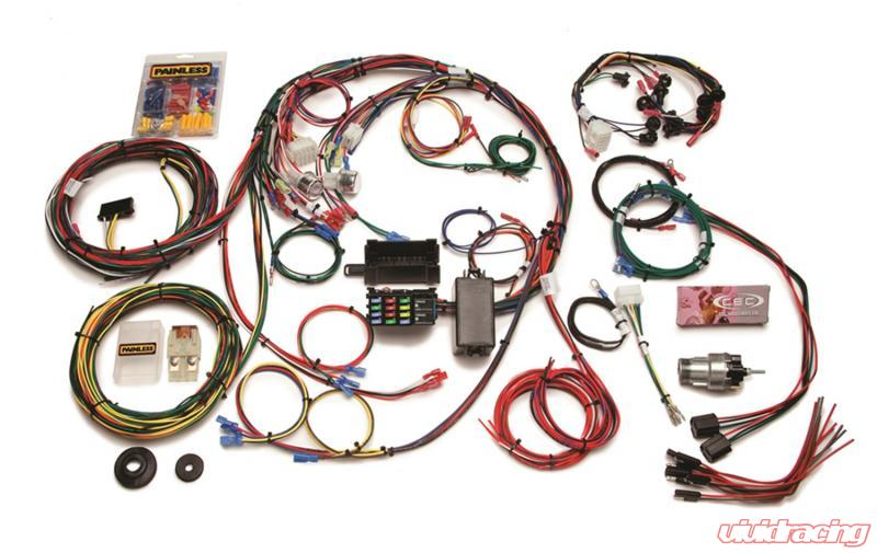painless wiring direct fit mustang chassis harness (1967-1968)-22 circuits  ford | 20121  vivid racing