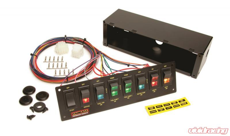 Enjoyable Painless Wiring 8 Switch Panel Non Fused Roll Bar Mount Use W Wiring Cloud Hisonuggs Outletorg