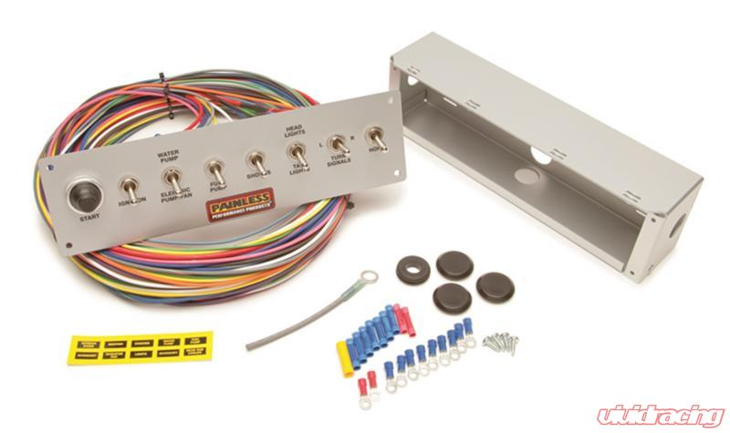 painless wiring 8-switch pro street panel - 50410