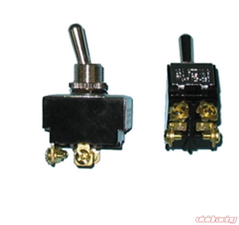 On Off On Painless Performance Heavy Duty Toggle Switch 20 A Double Pole
