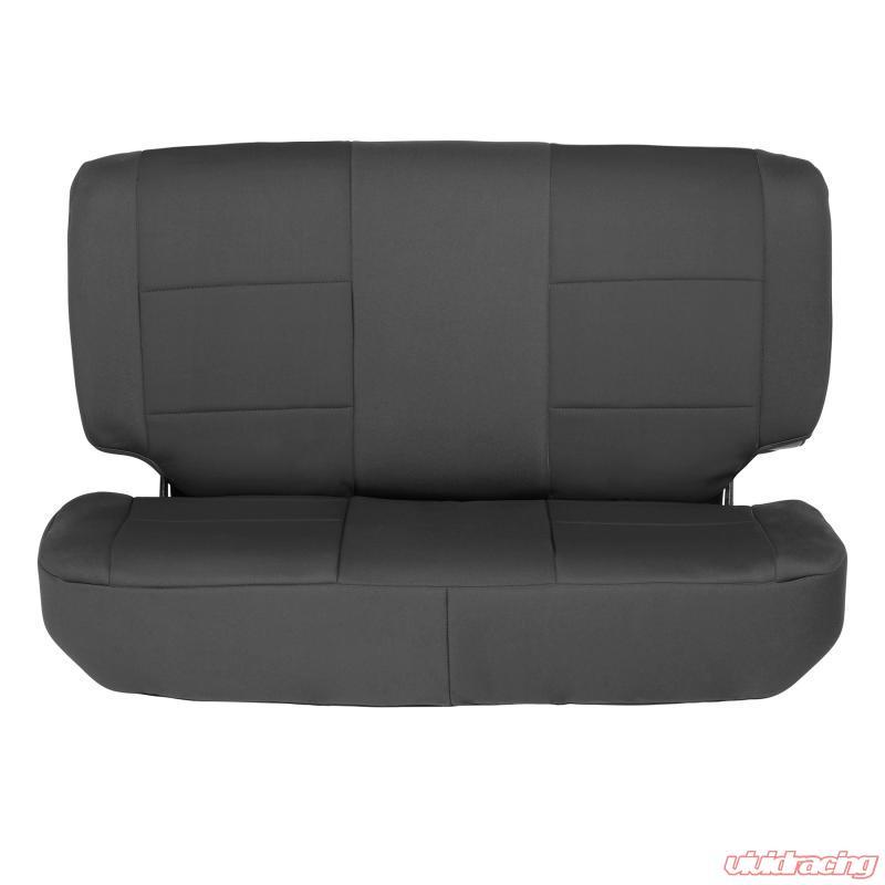 Smittybilt 471301 Front /& Rear Black Neoprene Seat Cover Set for Wrangler TJ