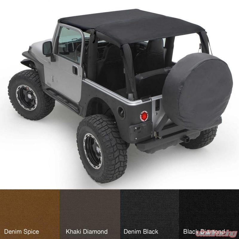 Smittybilt Extended Top For 97-06 Jeep Wrangler TJ 93635 Black Diamond