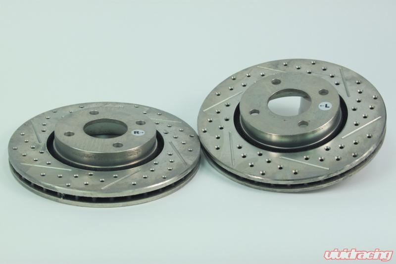 03 Mazdaspeed Protege Drill Slot Brake Rotors Rear