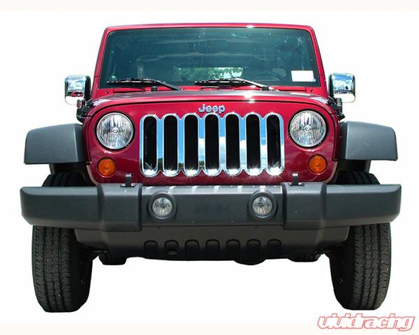Jeep Wrangler Grill >> Quality Automotive Accessories Abs Chrome Grill Overlays Jeep Wrangler 2013