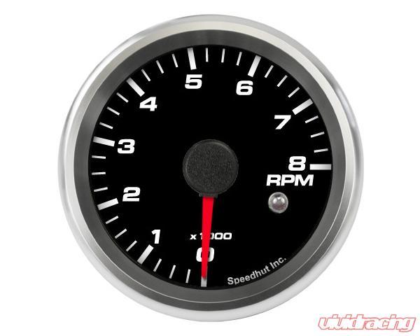 SpeedHut Tachometer Gauge 8K RPM Mini Shift-light