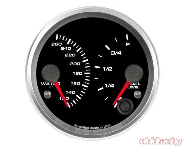 SpeedHut Dual Gauge - Water Temp, Fuel Level