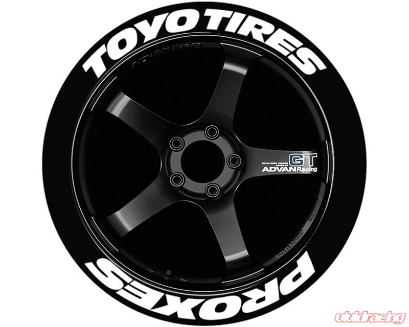Toyo Tires White Letters >> Tire Stickers Toyo Tires Proxes Permanent Raised Rubber Lettering