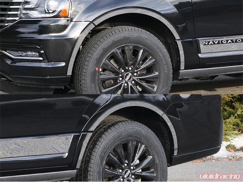 QAA 12 Piece Stainless Wheel Well Accent Trim Lincoln Navigator 4-Door 15-17